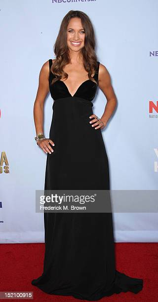 Actress Maiara Walsh arrives at the 2012 NCLR ALMA Awards at Pasadena Civic Auditorium on September 16 2012 in Pasadena California