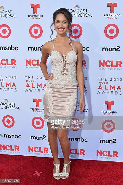 Actress Maiara Walsh arrives at the 2013 NCLR ALMA Awards at Pasadena Civic Auditorium on September 27 2013 in Pasadena California
