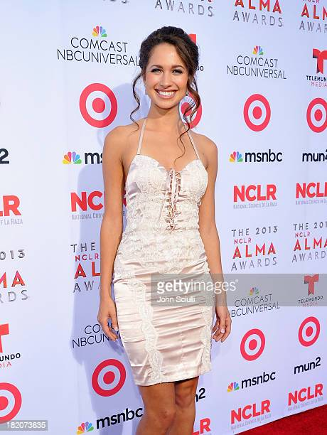 Actress Maiara Walsh arrives at the 2013 NCLR ALMA Awards sponsored by Target at Pasadena Civic Auditorium on September 27 2013 in Pasadena California