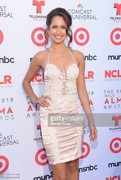 Actress Maiara Walsh attends the 2013 NCLR ALMA Awards at Pasadena Civic Auditorium on September 27 2013 in Pasadena California