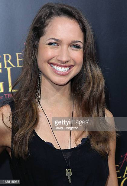 Actress Maiara Walsh attends the premiere of ARC Entertainment's 'For Greater Glory' at the AMPAS Samuel Goldwyn Theater on May 31 2012 in Beverly...