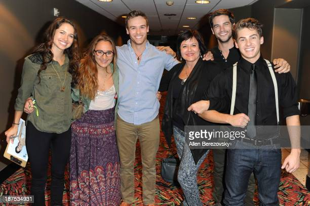 Actress Maiara Walsh Olivia Wyngaarden actor Ross Wyngaarden Terri Wyngaarden Brant Daugherty and Cody Christian attend 'The Starving Games' Hunger...
