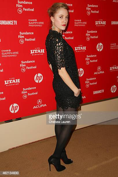 Actress Maika Monroe arrives at the 'It Follows' premiere during the 2015 Sundance Film Festival on January 24 2015 in Park City Utah