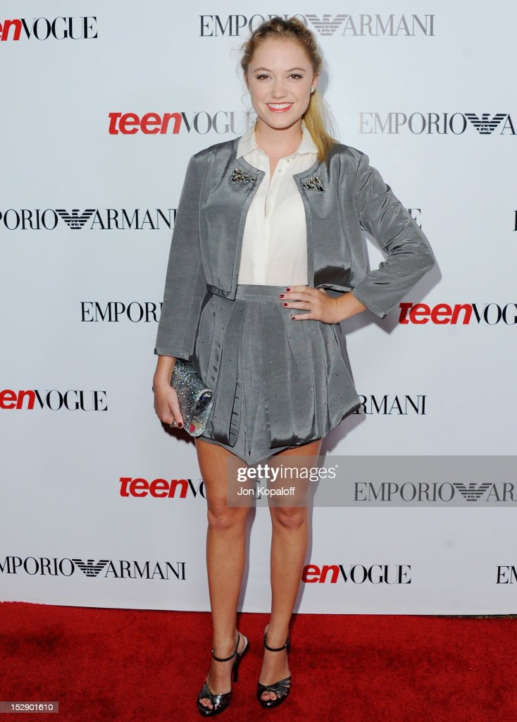 Actress Maika Monroe arrives at the Teen Vogue's 10th Anniversary Annual Young Hollywood Party on September 27, 2012 in Beverly Hills, California.