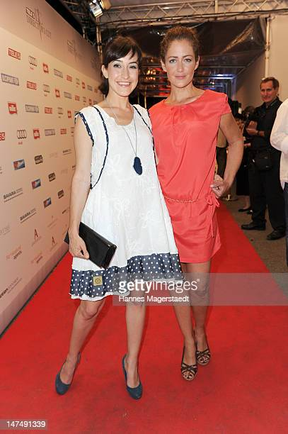 Actress Maike von Bremenand Yvonne Burbach attend the 'Tele 5 Director's Cut' during the Munich Film Festival at the Praterinsel on June 30 2012 in...