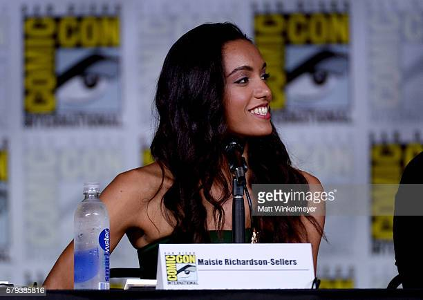 Actress Maisie RichardsonSellers attends DC's 'Legends Of Tomorrow' Special Video Presentation and QA during ComicCon International 2016 at San Diego...