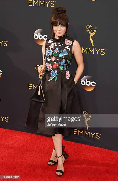 Actress Maisie Williams arrives at the 68th Annual Primetime Emmy Awards at Microsoft Theater on September 18 2016 in Los Angeles California