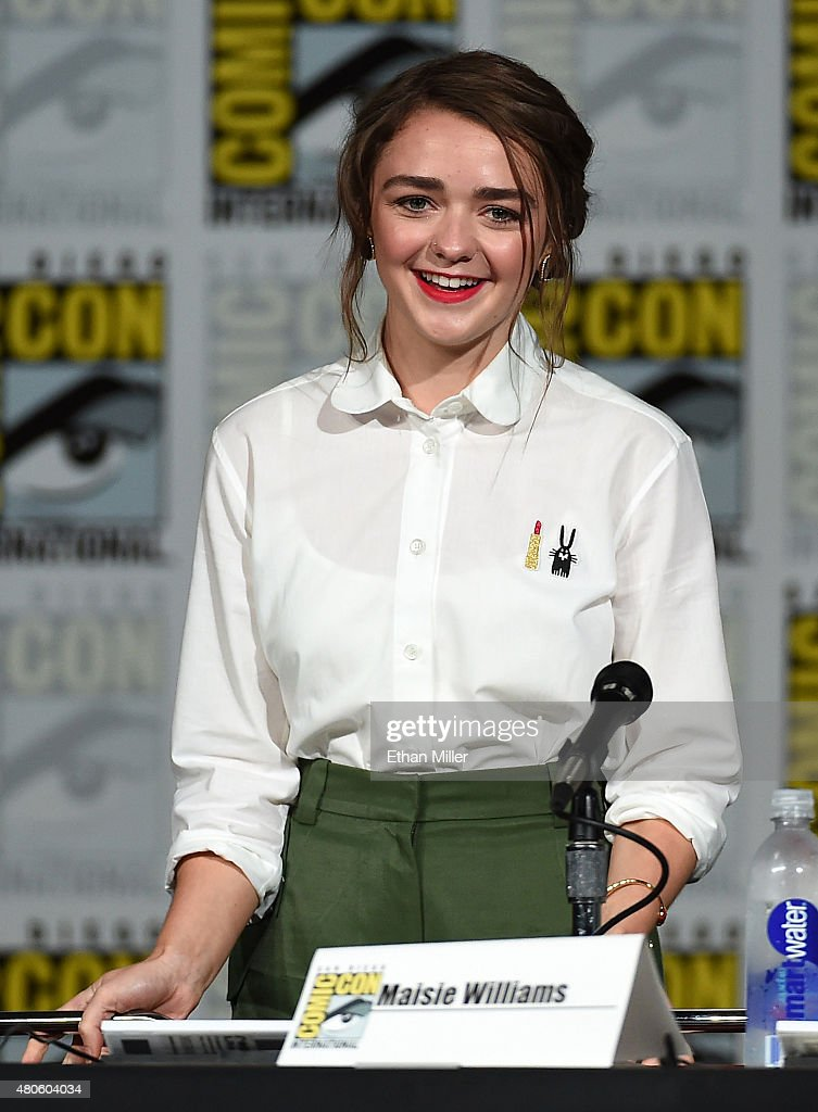 Actress Maisie Williams arrives at the TV Guide Magazine Fan Favorites panel during ComicCon International 2015 at the San Diego Convention Center on...