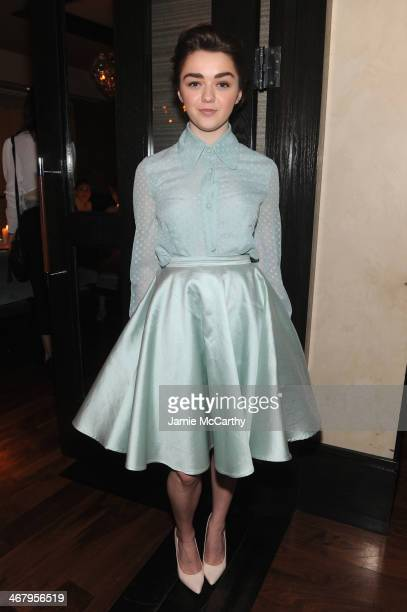 Actress Maisie Williams attends Christian Siriano private dinner and after party during MercedesBenz Fashion Week Fall 2014 at KOI Soho on February 8...
