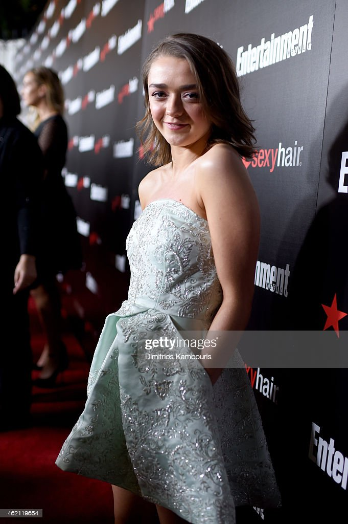 Actress Maisie Williams attends Entertainment Weekly's celebration honoring the 2015 SAG awards nominees at Chateau Marmont on January 24, 2015 in Los Angeles, California.