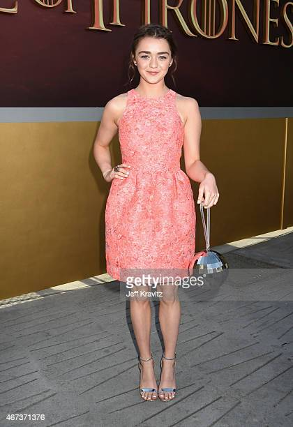 Actress Maisie Williams attends HBO's 'Game of Thrones' Season 5 Premiere and After Party at the San Francisco Opera House on March 23 2015 in San...