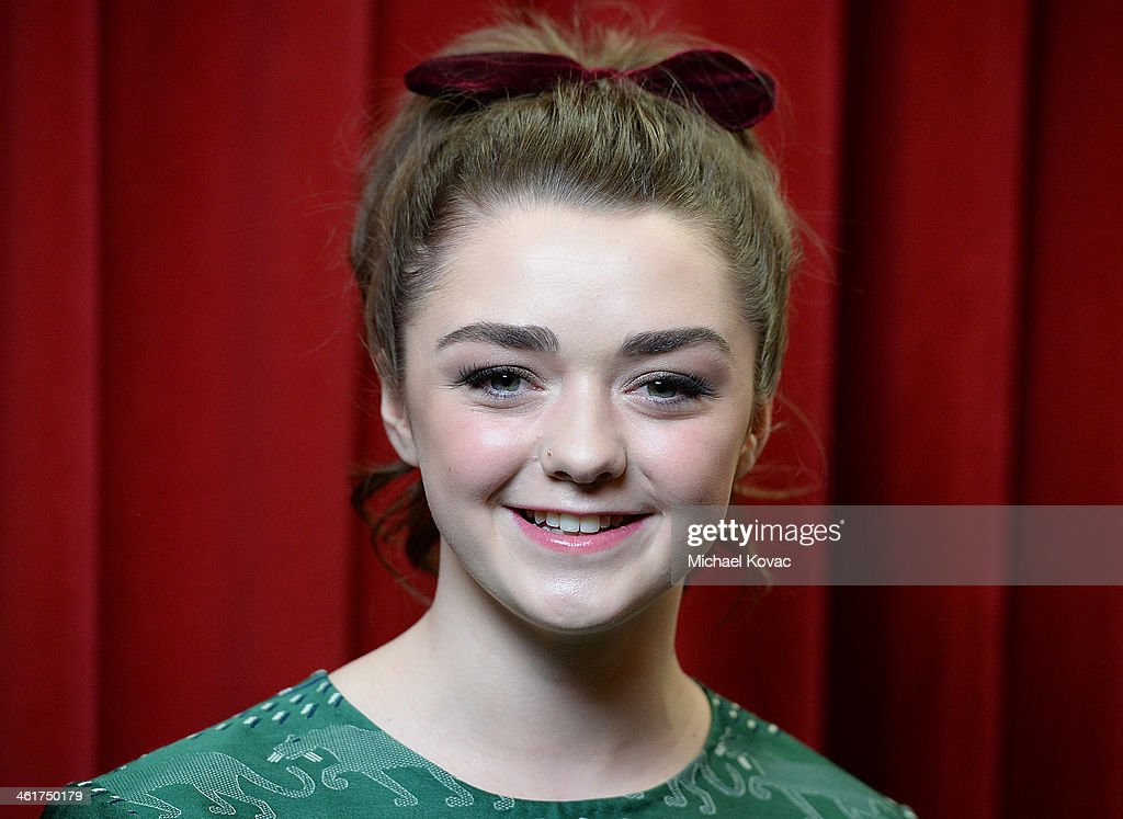 Actress Maisie Williams attends the 14th annual AFI Awards Luncheon at the Four Seasons Hotel Beverly Hills on January 10, 2014 in Beverly Hills, California.