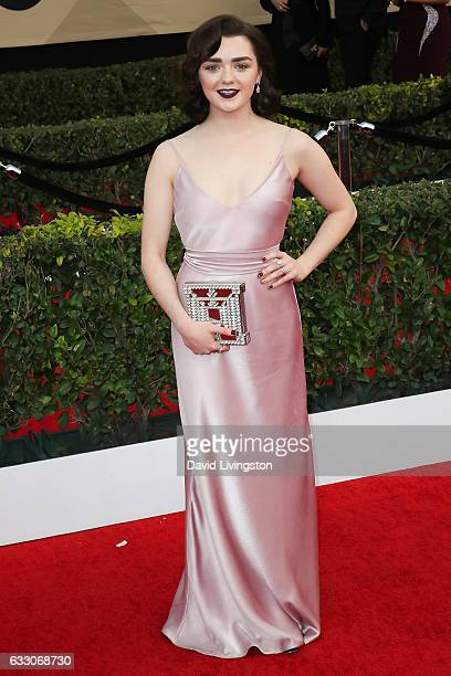 Actress Maisie Williams attends the 23rd Annual Screen Actors Guild Awards at The Shrine Expo Hall on January 29 2017 in Los Angeles California
