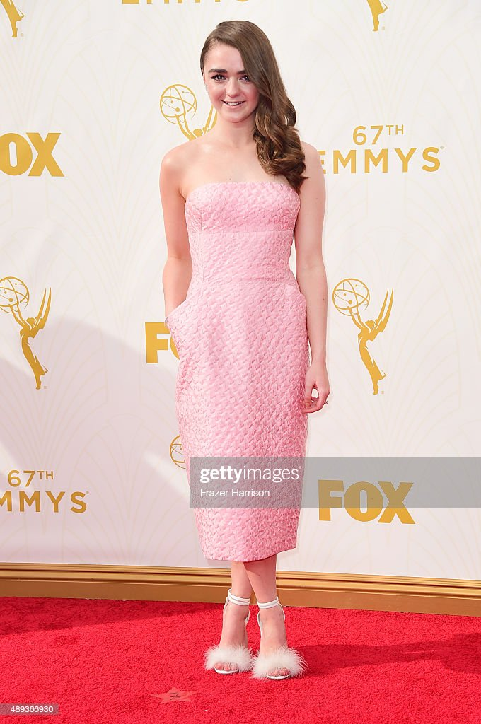 Actress Maisie Williams attends the 67th Annual Primetime Emmy Awards at Microsoft Theater on September 20 2015 in Los Angeles California