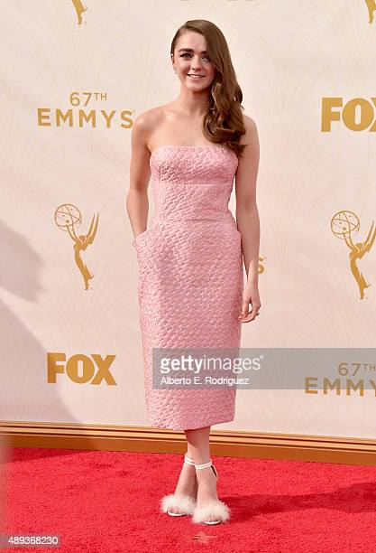 Actress Maisie Williams attends the 67th Emmy Awards at Microsoft Theater on September 20 2015 in Los Angeles California 25720_001