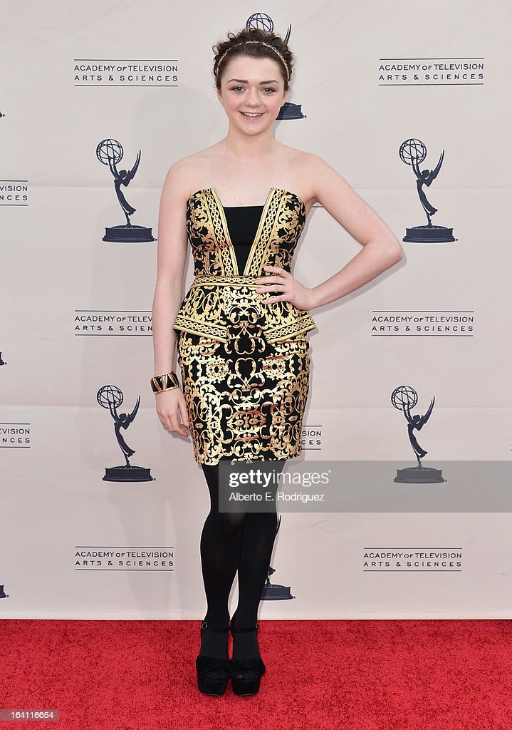 Actress Maisie Williams attends The Academy of Television Arts & Sciences' Presents An Evening With 'Game of Thrones' at TCL Chinese Theatre on March 19, 2013 in Hollywood, California.