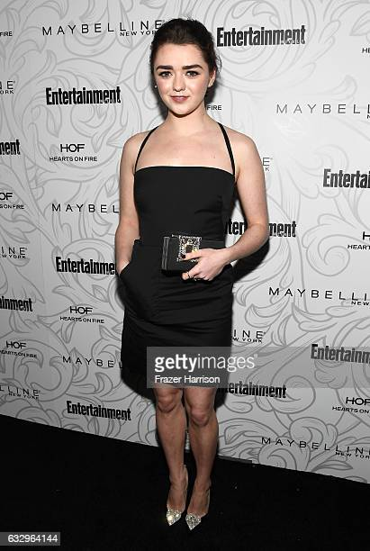 Actress Maisie Williams attends the Entertainment Weekly Celebration of SAG Award Nominees sponsored by Maybelline New York at Chateau Marmont on...