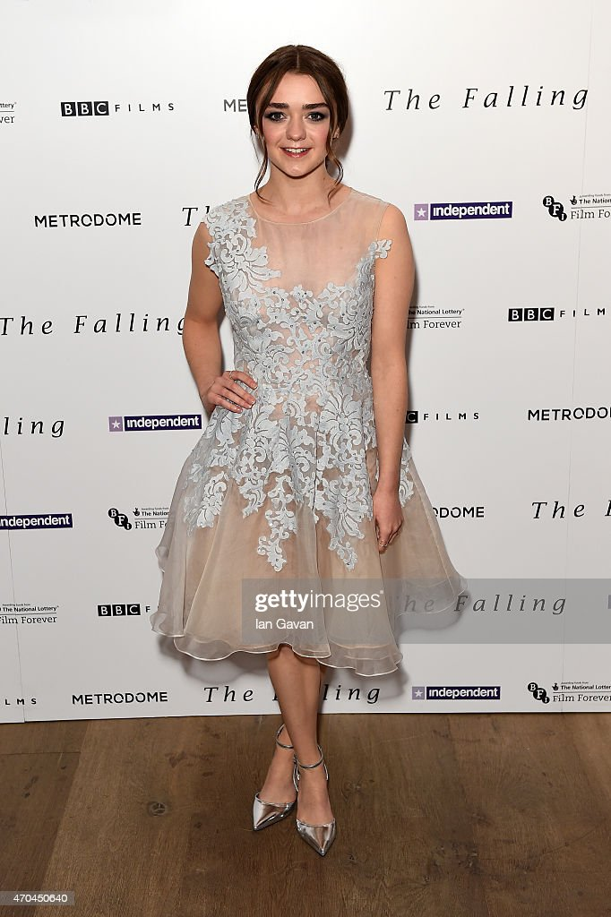 Actress Maisie Williams attends the London gala screening of 'The Falling' at Ham Yard Hotel on April 20 2015 in London England
