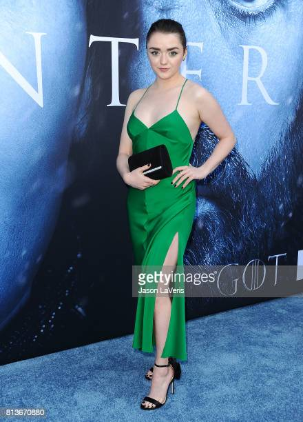 Actress Maisie Williams attends the season 7 premiere of 'Game Of Thrones' at Walt Disney Concert Hall on July 12 2017 in Los Angeles California