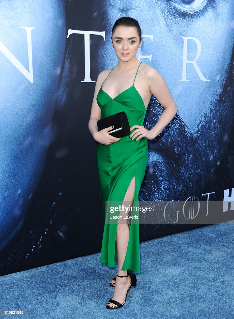 Actress Maisie Williams attends the season 7 premiere of 'Game Of Thrones' at Walt Disney Concert Hall on July 12, 2017 in Los Angeles, California.