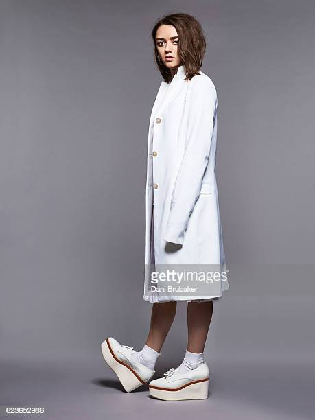 Actress Maisie Williams is photographed for Nylon Magazine on January 29 2016 in Los Angeles California