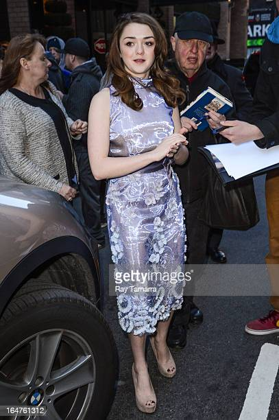 Actress Maisie Williams leaves her Midtown Manhattan hotel on March 27 2013 in New York City