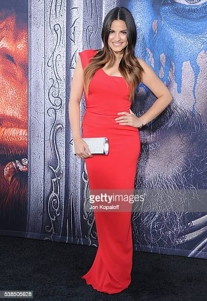 Actress Maite Perroni arrives at the Los Angeles Premiere 'Warcraft' at TCL Chinese Theatre IMAX on June 6 2016 in Hollywood California