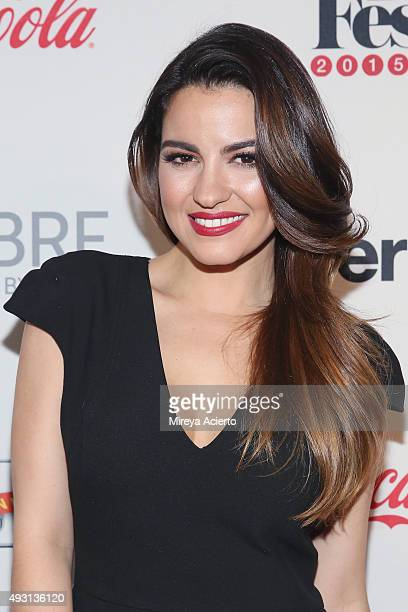 Actress Maite Perroni attends the 4th Annual People en Espanol Festival at Jacob Javitz Center on October 17 2015 in New York City