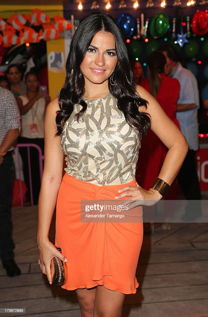 Actress Maite Perroni attends the Premios Juventud 2013 at Bank United Center on July 18, 2013 in Miami, Florida.