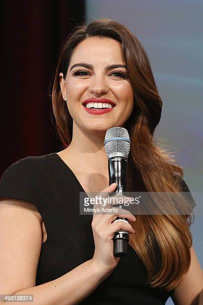 Actress Maite Perroni speaks during the 4th Annual People en Espanol Festival at Jacob Javitz Center on October 17 2015 in New York City