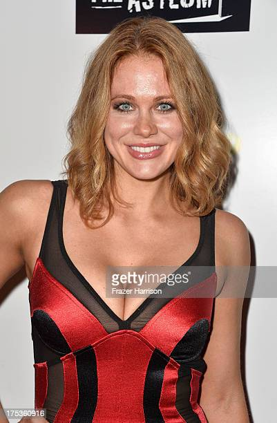 Actress Maitland Ward arrives at Fathom Events Presents The Premiere Of The Asylum And Syfy's 'Sharknado' at Regal Cinemas LA Live on August 2 2013...