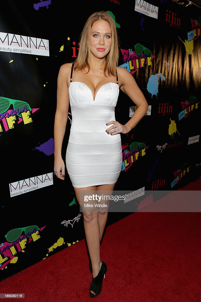 Actress <a gi-track='captionPersonalityLinkClicked' href=/galleries/search?phrase=Maitland+Ward&family=editorial&specificpeople=2850630 ng-click='$event.stopPropagation()'>Maitland Ward</a> arrives at iiJin's Spring/Summer 2014 'The Glamorous Life' clothing and footwear collection fashion show at Avalon on October 16, 2013 in Hollywood, California.