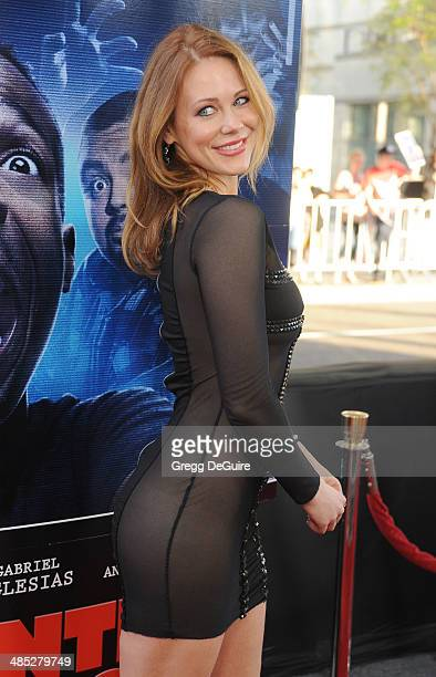Actress Maitland Ward arrives at the Los Angeles premiere of 'A Haunted House 2' at Regal Cinemas LA Live on April 16 2014 in Los Angeles California