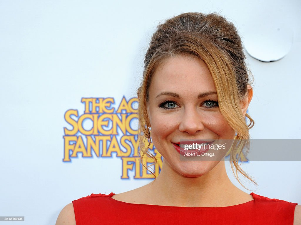 Actress <a gi-track='captionPersonalityLinkClicked' href=/galleries/search?phrase=Maitland+Ward&family=editorial&specificpeople=2850630 ng-click='$event.stopPropagation()'>Maitland Ward</a> arrives for the 40th Annual Saturn Awards held at The Castaway on June 26, 2014 in Burbank, California.