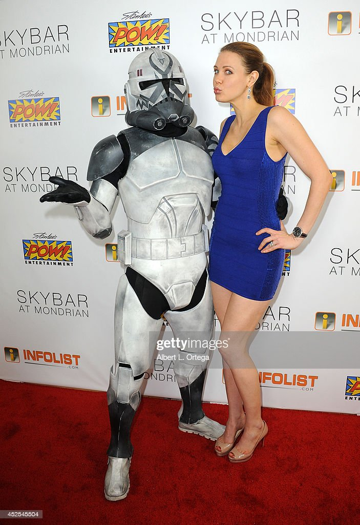 Actress <a gi-track='captionPersonalityLinkClicked' href=/galleries/search?phrase=Maitland+Ward&family=editorial&specificpeople=2850630 ng-click='$event.stopPropagation()'>Maitland Ward</a> at Infolist.com's Pre-Comic-Con Bash held at Skybar on July 17, 2014 in West Hollywood, California.