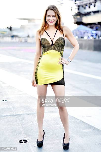 Actress Maitland Ward attends CraveOnline Presents Crave Conquers The Con at USS Midway on July 25 2014 in San Diego California