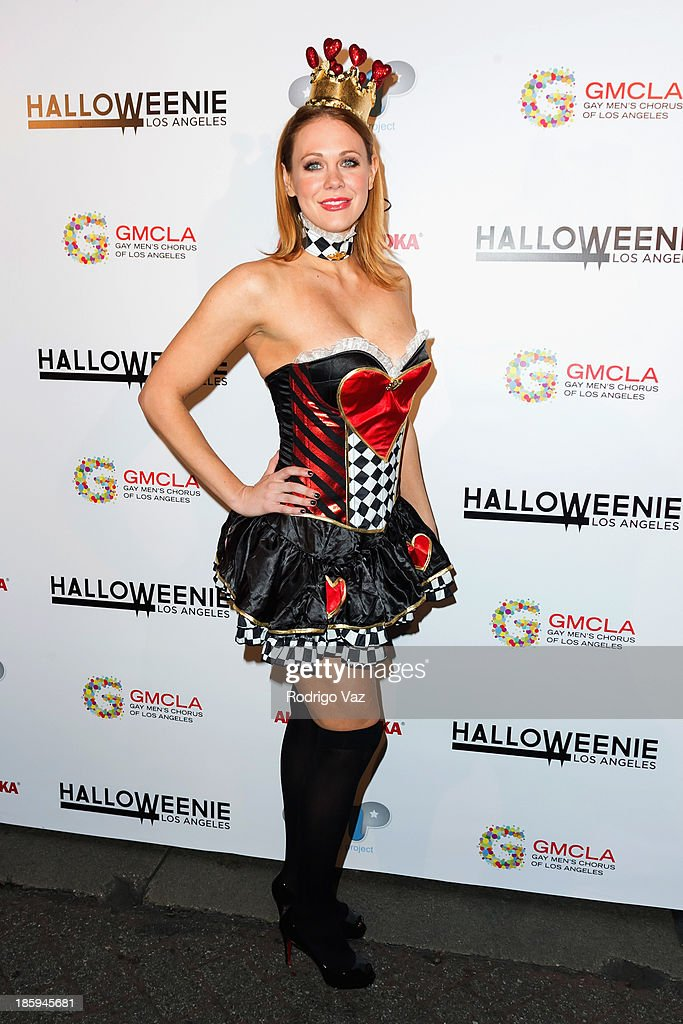 Actress <a gi-track='captionPersonalityLinkClicked' href=/galleries/search?phrase=Maitland+Ward&family=editorial&specificpeople=2850630 ng-click='$event.stopPropagation()'>Maitland Ward</a> attends Fred and Jason's 8th Annual 'Halloweenie' Holiday Concert By The Gay Men's Chorus of Los Angeles at Los Angeles Theatre on October 25, 2013 in Los Angeles, California.