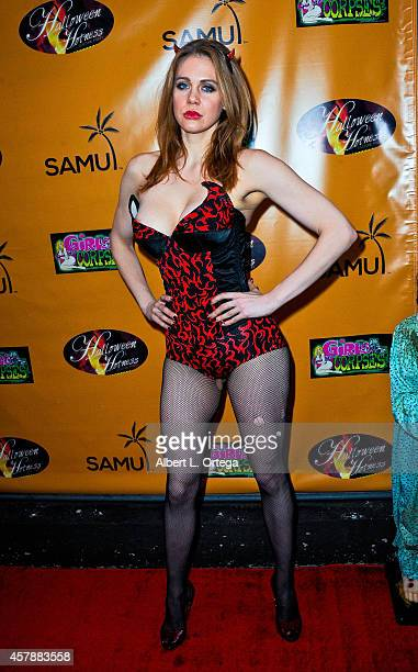 Actress Maitland Ward attends Halloween Hotness Costume Party held at Couture on October 25 2014 in Hollywood California