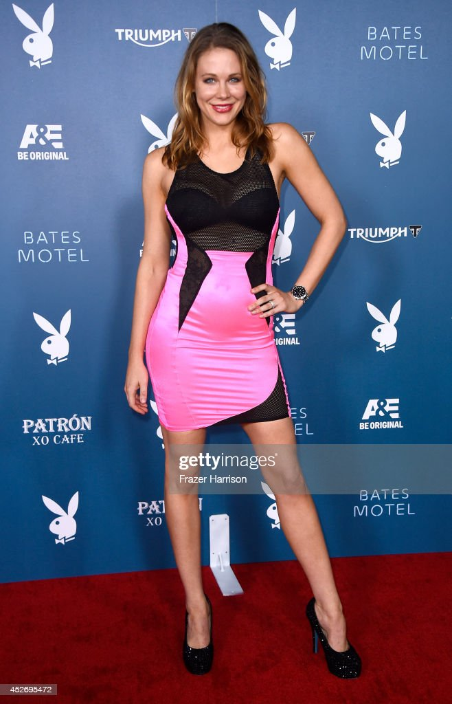 Actress <a gi-track='captionPersonalityLinkClicked' href=/galleries/search?phrase=Maitland+Ward&family=editorial&specificpeople=2850630 ng-click='$event.stopPropagation()'>Maitland Ward</a> attends Playboy and A&E 'Bates Motel' Event during Comic-Con International 2014 on July 25, 2014 in San Diego, California.
