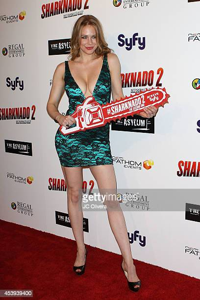 Actress Maitland Ward attends 'Sharknado 2 The Second One' Los Angeles Premiere at LA Live on August 21 2014 in Los Angeles California