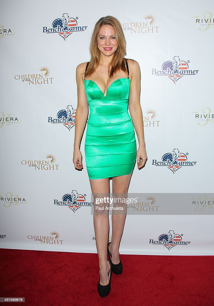 Actress Maitland Ward attends the annual Stars & Stripes charity event hosted by Children Of The Night and BenchWarmer's on July 1, 2014 in Los Angeles, California.