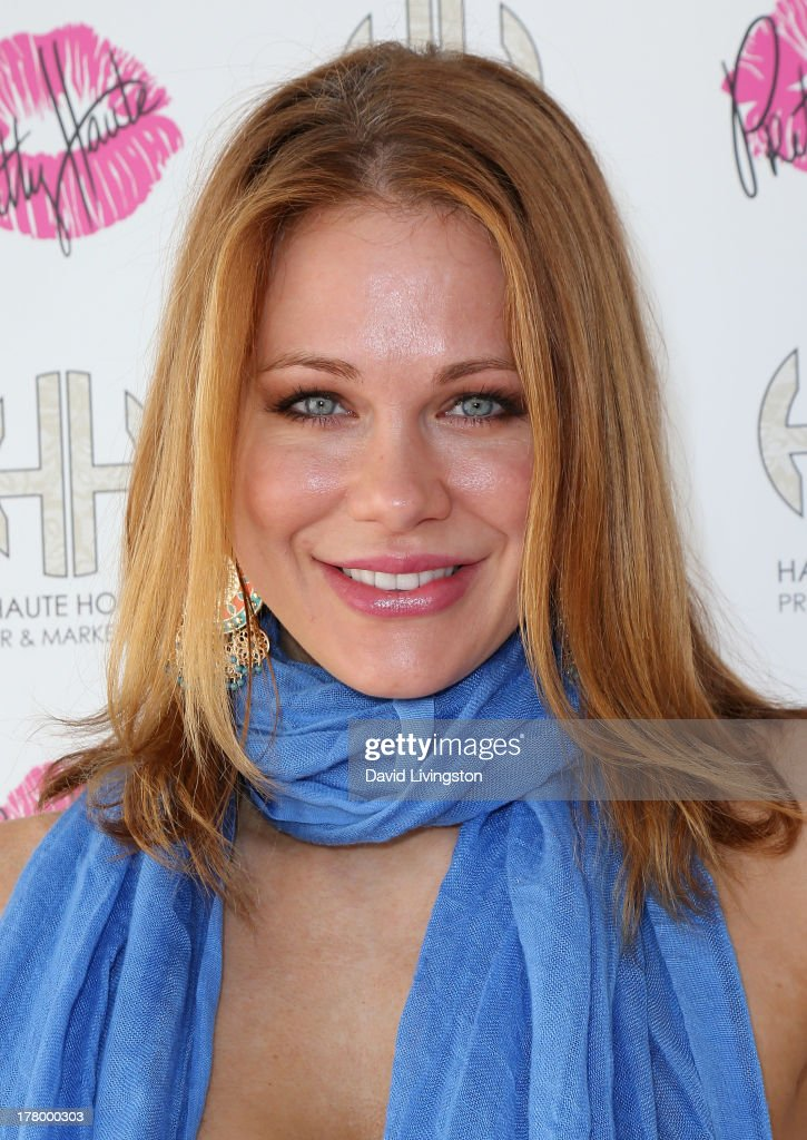 Actress <a gi-track='captionPersonalityLinkClicked' href=/galleries/search?phrase=Maitland+Ward&family=editorial&specificpeople=2850630 ng-click='$event.stopPropagation()'>Maitland Ward</a> attends the Bellacures Nail Salon celebrity event at the Bellacures Nail Salon on August 26, 2013 in Studio City, California.