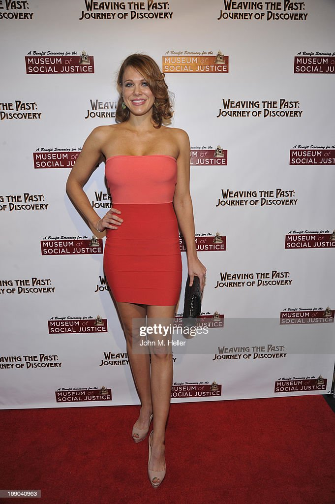 Actress <a gi-track='captionPersonalityLinkClicked' href=/galleries/search?phrase=Maitland+Ward&family=editorial&specificpeople=2850630 ng-click='$event.stopPropagation()'>Maitland Ward</a> attends the screening of 'Weaving The Past: Journey Of Discovery' at the Linwood Dunn Theater at the Pickford Center for Motion Study on May 18, 2013 in Hollywood, California.