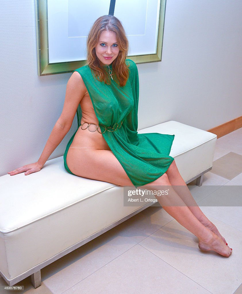 Actress <a gi-track='captionPersonalityLinkClicked' href=/galleries/search?phrase=Maitland+Ward&family=editorial&specificpeople=2850630 ng-click='$event.stopPropagation()'>Maitland Ward</a> cosplays Jessica 6 from 'Logan's Run' on Day 3 of Comic-Con International 2014 at The Bayfront Hilton Hotel on July 26, 2014 in San Diego, California.