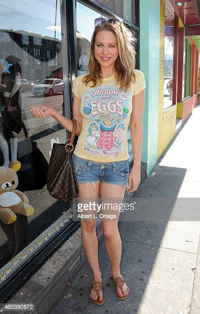 Actress Maitland Ward walks into Meltdown Comics on May 30 2014 in Hollywood California