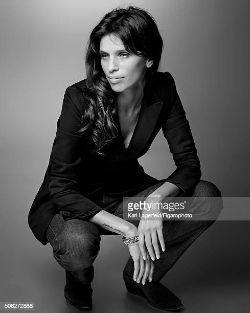 Actress Maiwenn is photographed for Madame Figaro on November 18 2015 in Paris France Jacket jeans boot jewelry personal PUBLISHED IMAGE CREDIT MUST...