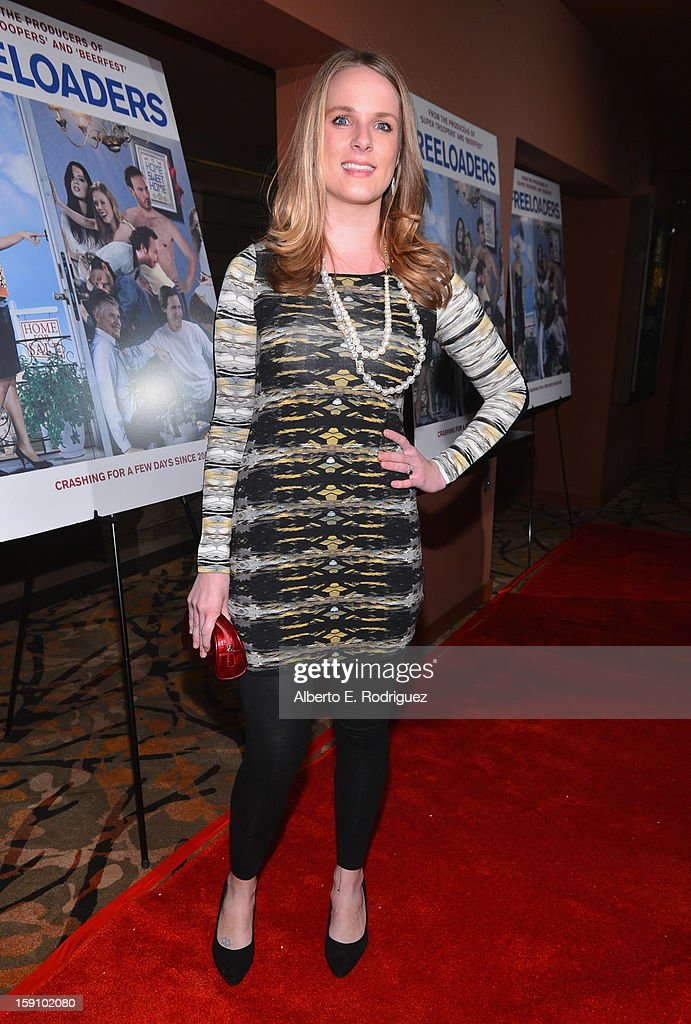 Actress Maja Elizabeth Miletich arrives to the premiere of Salient Media's 'Freeloaders' at Sundance Cinema on January 7, 2013 in Los Angeles, California.