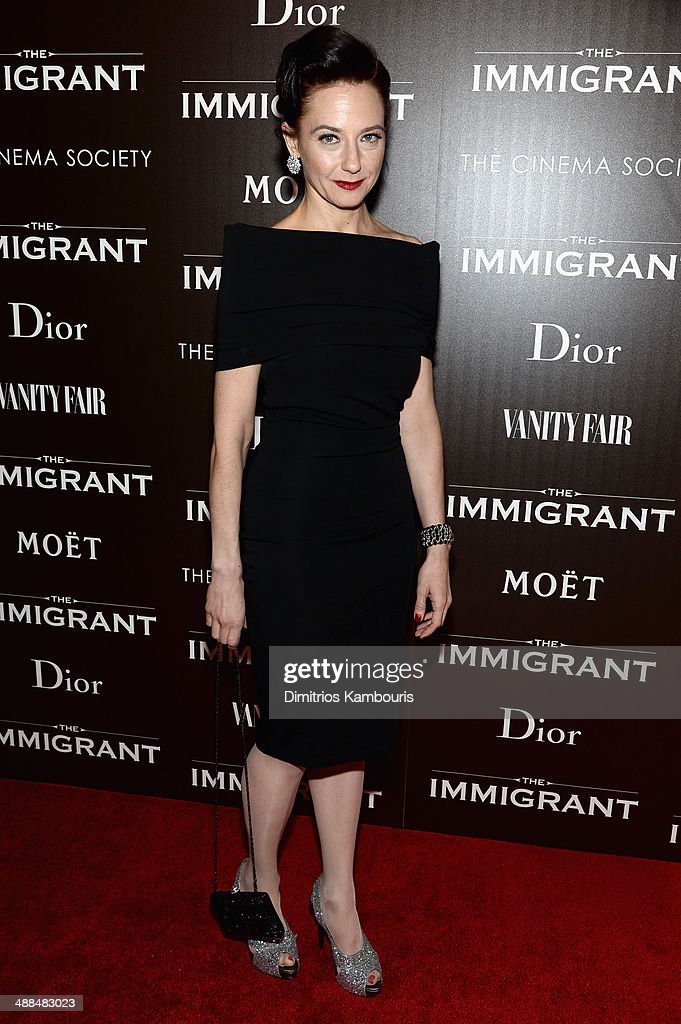 Actress Maja Wampuszyc attends the Dior & Vanity Fair with The Cinema Society premiere of The Weinstein Company's 'The Immigrant' at The Paley Center for Media on May 6, 2014 in New York City.