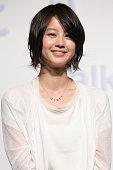 Actress Maki Horikita attends the NTT DoCoMo Inc's new TV commercial press conference at Grand Hyatt Tokyo on May 10 2010 in Tokyo Japan NTT DoCoMo...