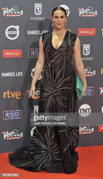 Actress Malena Gonzalez attends the 'Platino Awards 2017' photocall at La Caja Magica on July 22 2017 in Madrid Spain
